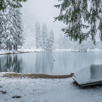 Lac en hiver. AL700811