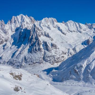 La Vallée Blanche en ski