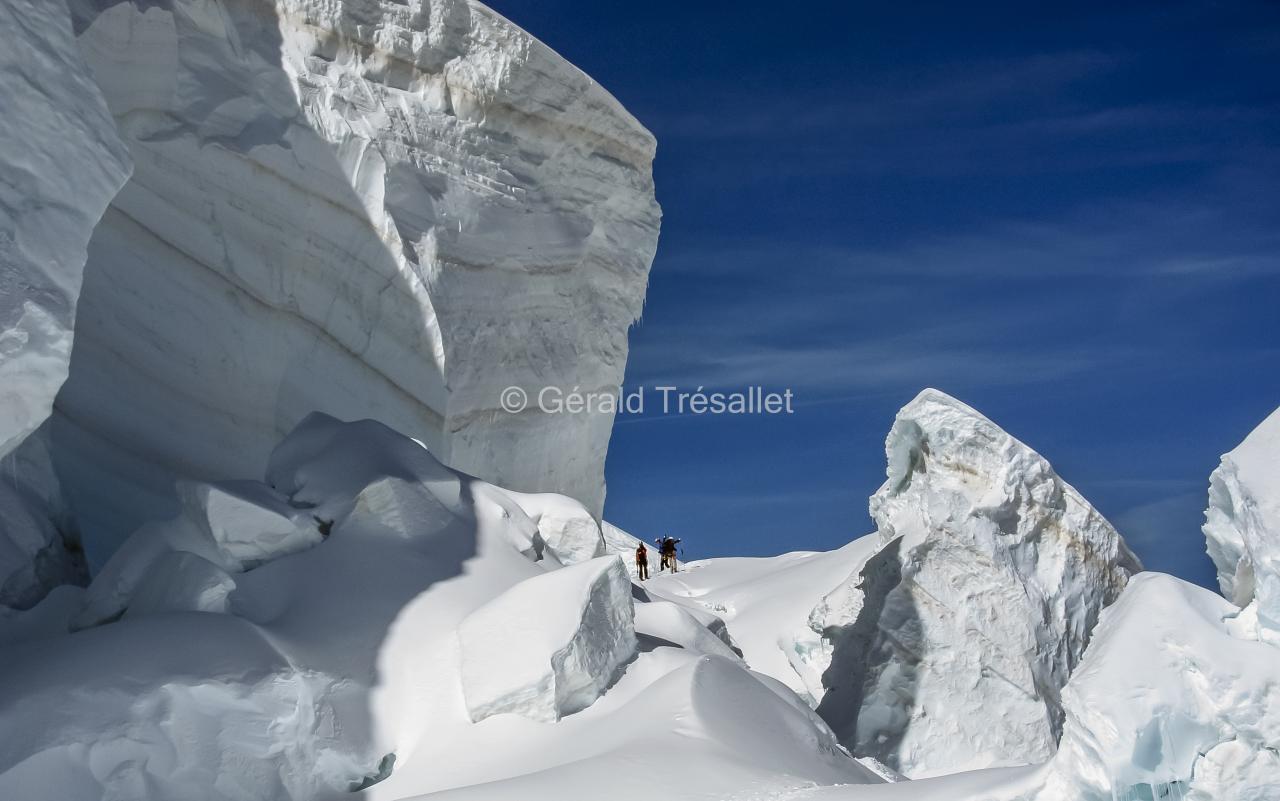 Sérac au Mont-Blanc du Tacul